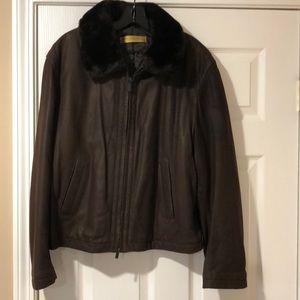 Donna Karan goatskin bomber jacket size M